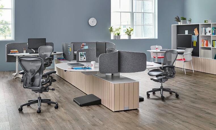 Bild eines mit Herman Miller eingerichteten Büros